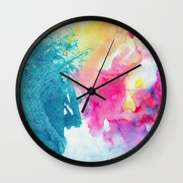 Watercolor Splashes Wall Clock