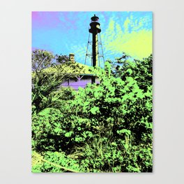 Sanibel Lighthouse I - Blacklight Poster Canvas Print