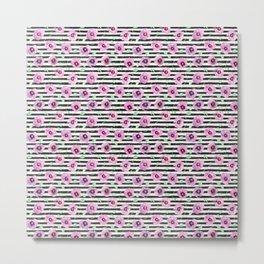 Grunge Desert Rose (lilac) Metal Print