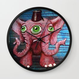 Pachyderm Goes Both Ways Wall Clock