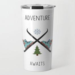 Adventure Awaits - Ski Travel Mug