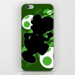 Super Smash Bros. Green Yoshi Silhouette iPhone Skin