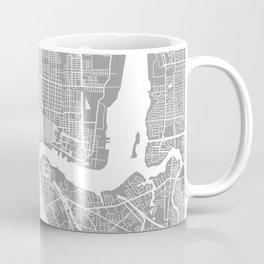 Jacksonville map grey Coffee Mug