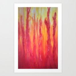 Watching the flames dance Art Print