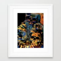 skulls Framed Art Prints featuring Skulls By Annie Zeno by Annie Zeno