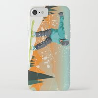 snowboard iPhone & iPod Cases featuring Snowboard Jump by Park City Posters