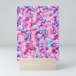 80's Neon Sign Pattern Mini Art Print