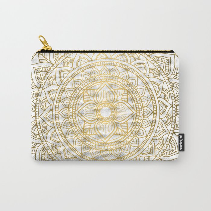 Gold Bali Mandala Carry-All Pouch