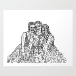Dom, Kat & Mel Art Print