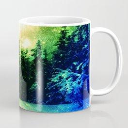 Galaxy Forest Rainbow Snow Coffee Mug