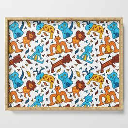 Crazy Animals Serving Tray