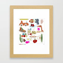 18 things about me Framed Art Print