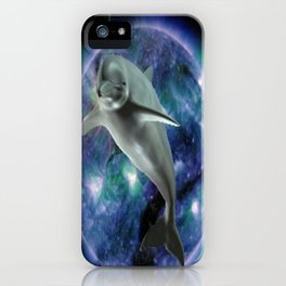 Space dolphin iPhone Case
