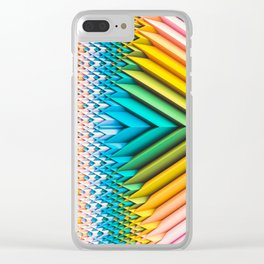 Sun Shard IV. Abstract Colorful 3d Chevron Clear iPhone Case