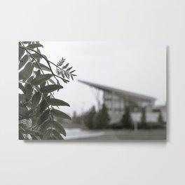 Stuff Behind Plants - CSU Rec Center Metal Print