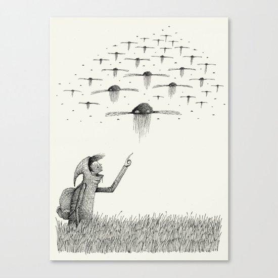 'I Saw Drones' Canvas Print