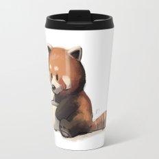 Red Panda Drinking Coffee Travel Mug