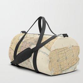 Vintage Map of Shanghai China (1918) Duffle Bag