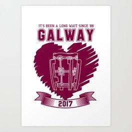 All Ireland Senior Hurling Champions: Galway (White/Maroon) Art Print