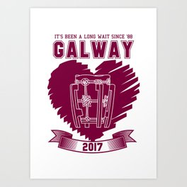 All Ireland Senior Hurling Champions: Galway (White/Maroon) Art Print