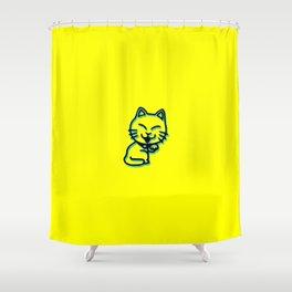 Cartoon Cat Shower Curtain