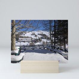Beautiful Snow   Trees   Bright Blue Sky   Nature   Outdoors   Landscape Photography Mini Art Print