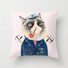 Sailor Cat VII Throw Pillow