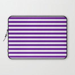 Halloween Two color stripes Violet and White Laptop Sleeve