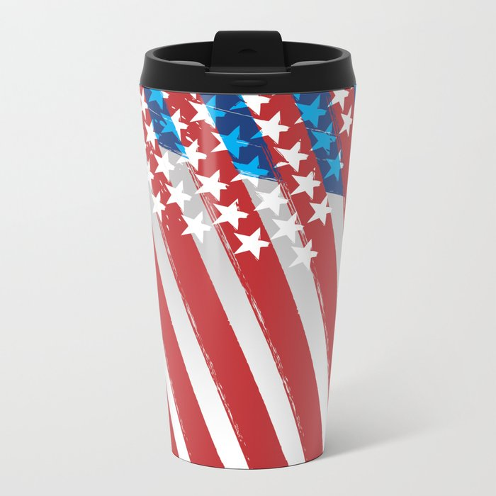 Stars and stripes Metal Travel Mug
