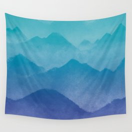 Fog on mountains Wall Tapestry