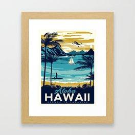 Vintage poster - Hawaii Framed Art Print