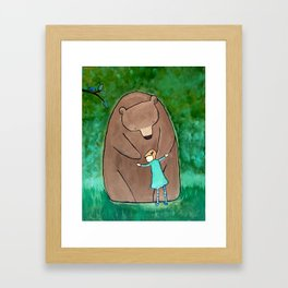 Bear Hugs Framed Art Print