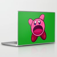 kirby Laptop & iPad Skins featuring Hungry Hungry Kirby by Artistic Dyslexia