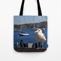 maine Tote Bags featuring Maine Local by Catherine1970