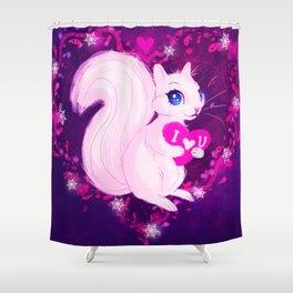 Squirrel Heart Shower Curtain