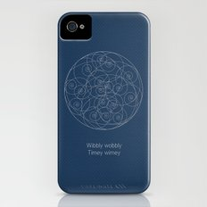 Doctor Who: Wibbly Wobbly iPhone (4, 4s) Slim Case