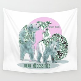 Bear Necessities #1a Bearly Secret Wall Tapestry