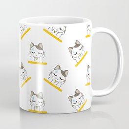 Resting Cat Cartoon Pattern Coffee Mug