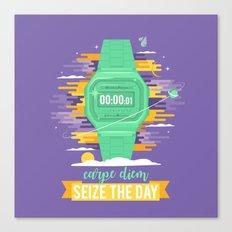Carpe Diem - Seize the Day [green] Canvas Print