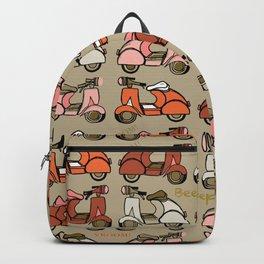 Vespas - Earthtones Backpack