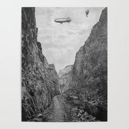 Canyon railroad Poster