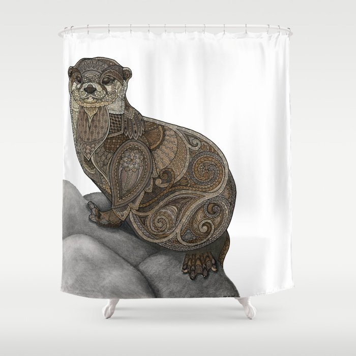 Otter Shower Curtain By Zanna