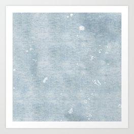distressed chambray denim Art Print