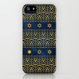 Menorah Pattern iPhone Case