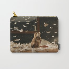 owl bird predator bedding feathers Carry-All Pouch