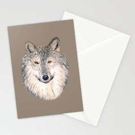 Grey Wolf Stationery Cards