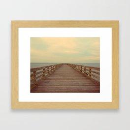 Prybil's Pier Framed Art Print