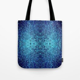 Deep blue glass mosaic Tote Bag