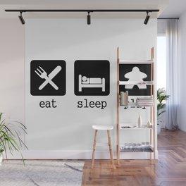 Eat, sleep, play Wall Mural