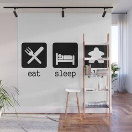 Eat, sleep, play Wall Mural